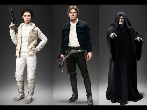 Star Wars Battlefront Han Solo Princess Leia Emperor Palpatine Gameplay Battlefront 3 New Heroes  sc 1 st  YouTube : princess leia han solo costumes  - Germanpascual.Com