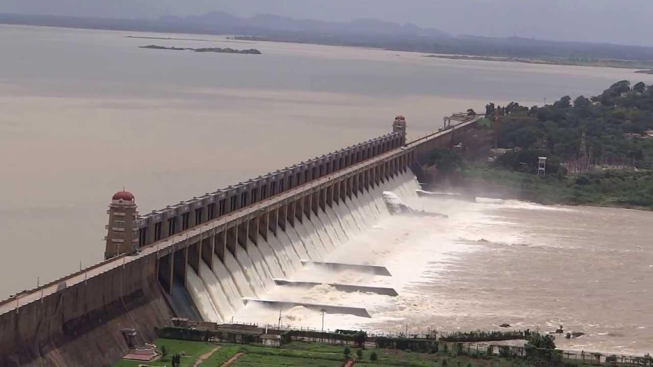 tungabhadra dam overflow youtube
