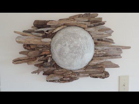 Diy Driftwood Moon Wall Art Youtube