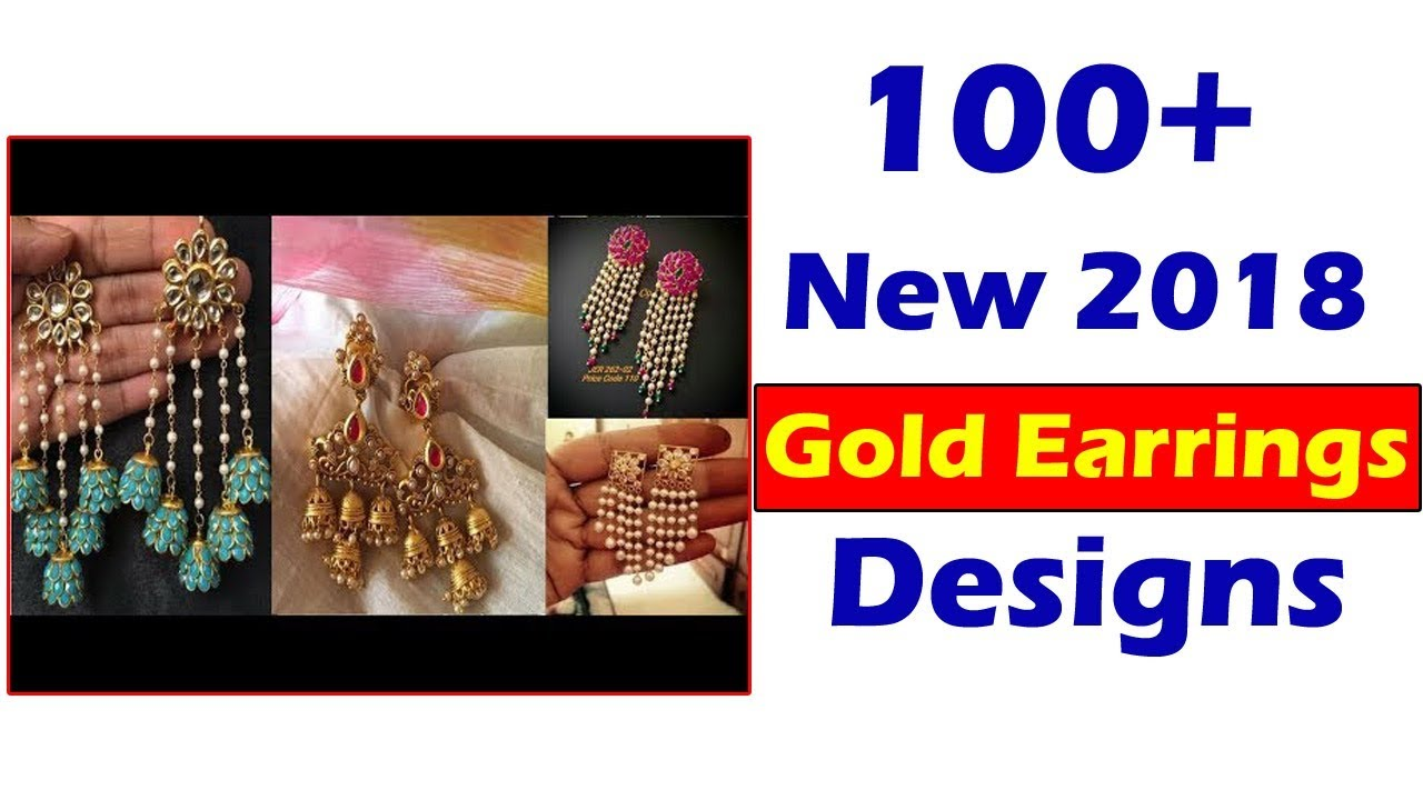2017 Latest Stylish Gold Earrings In Hoop Designs Collection 3