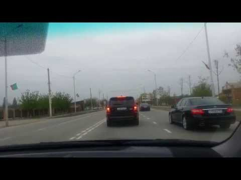 Tourist speed drive into Grozny, Chechnya