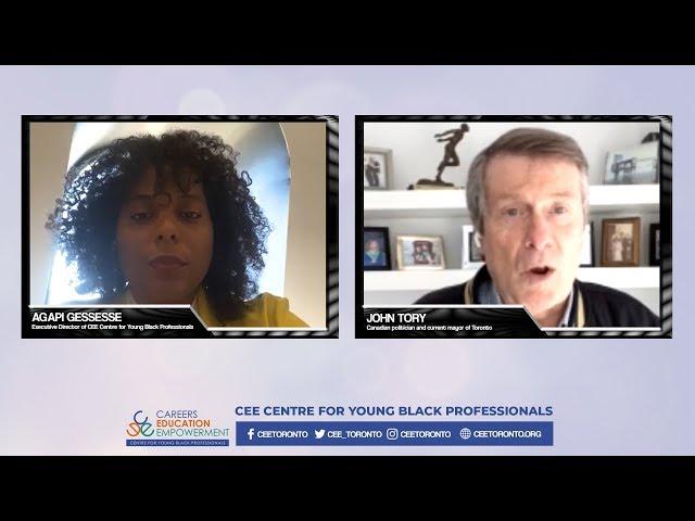Toronto Mayor John Tory Talks Anti-Black Racism With CEE