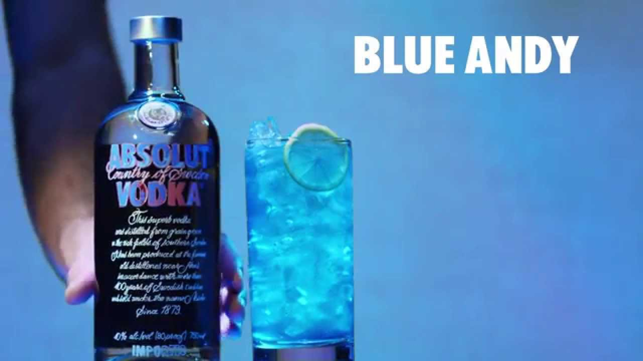 How to make an Absolut Blue Andy Cocktail | Color it Warhol