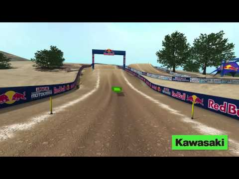 Glen Helen Motocross Animated Track Map Rider's POV
