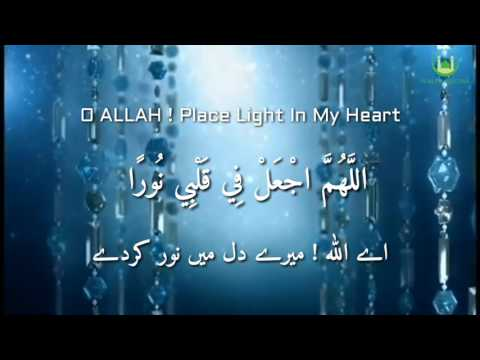 DUA E NOOR | Beautiful Voice | Shaykh Mishary Alfasy | English & Urdu Subtitles