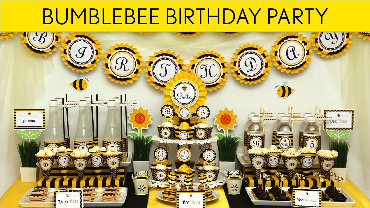 Bumblebee Birthday Party Ideas // Smiling Bumblebee - B28 ...