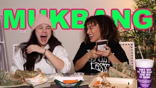 WINGSTOP MUKBANG WITH FRANNY! WE READ YOUR New Years RESOLUTIONS!