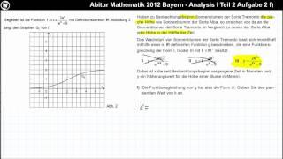 Abitur Mathematik 2012 Bayern - Analysis Aufgabengruppe I - Teil 2 Aufgabe 2 f)