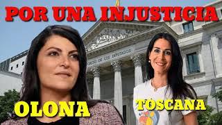 MACARENA OLONA Y CARLA TOSCANA HAN PRESENCIADO UNA INJUSTICIA.