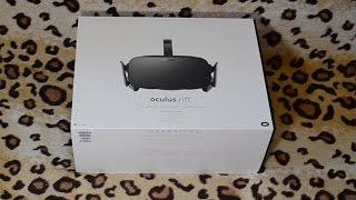 Распаковка шапки виртуальной реальности Oculus Rift CV1