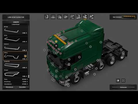 ETS2: Scania longline tuning (with mods)