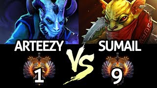 ARTEEZY Riki VS SUMAIL Bounty Hunter - Invisible Killer Battle 7.22 Dota 2