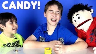 Eating Sour Candy, Easter Candy and More with Travi the Puppet!