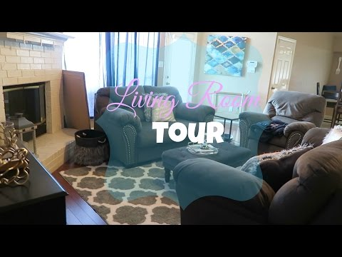 Living Room Tour 2017 | Decorating Tips & Ideas