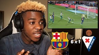 BARCELONA 6 X 1 EIBAR - HIGHLIGHTS  GOALS 19092017 - MESSI IS THE GOAT   Reaction