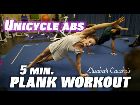 *NEW* UNICYCLE ABS! (5 min. Plank Workout)