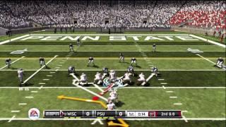 NCAA Football 12 gameplay: Wisconsin vs. Penn State (Xbox 360)