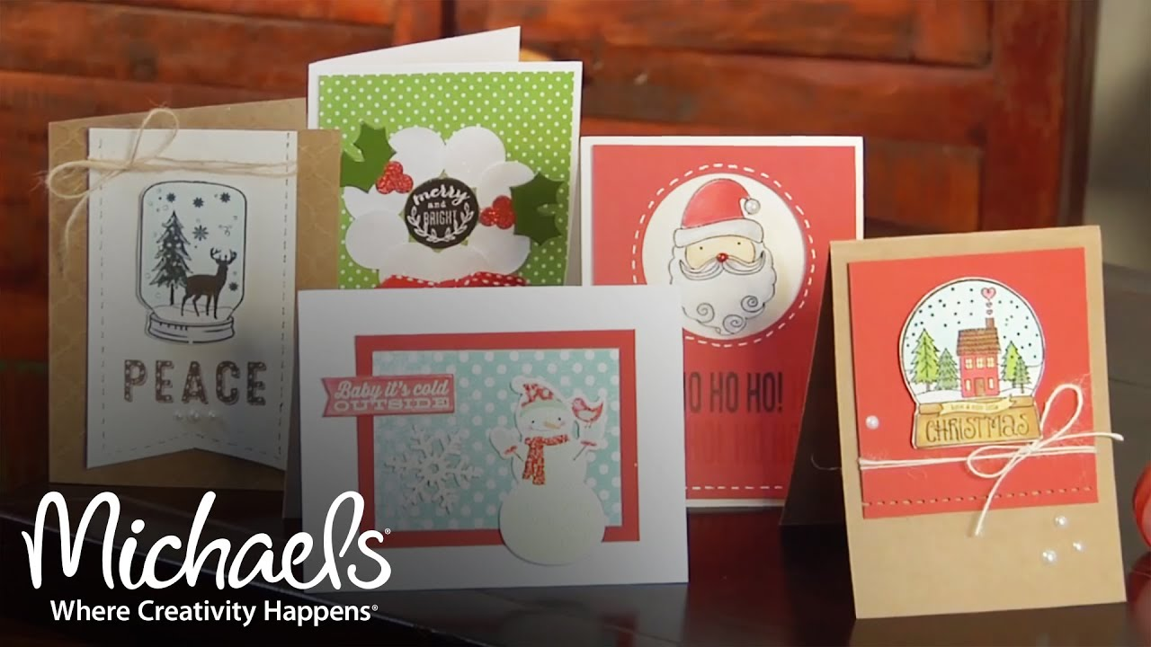 Holiday Handcrafted Card Ideas Diy Holiday Michaels Youtube
