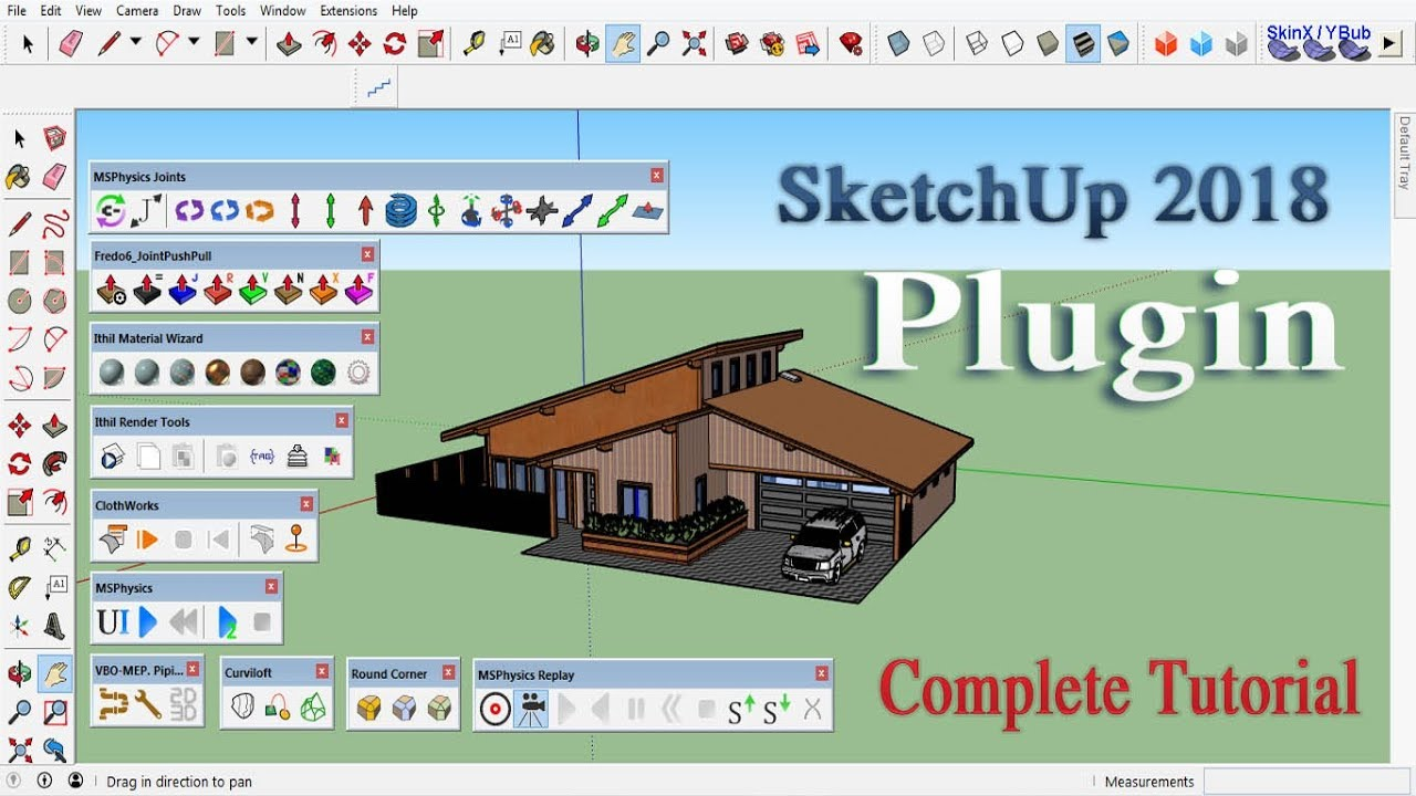 SketchUp 2018 Plugin Installation full tutorial  by Home Design India