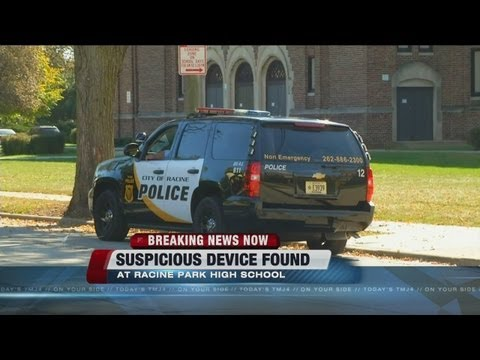 Suspicious device left at Racine Park High School