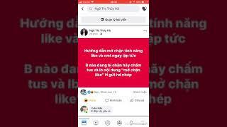 Hướng dẫn mở chặn tính năng like comment trên Facebook