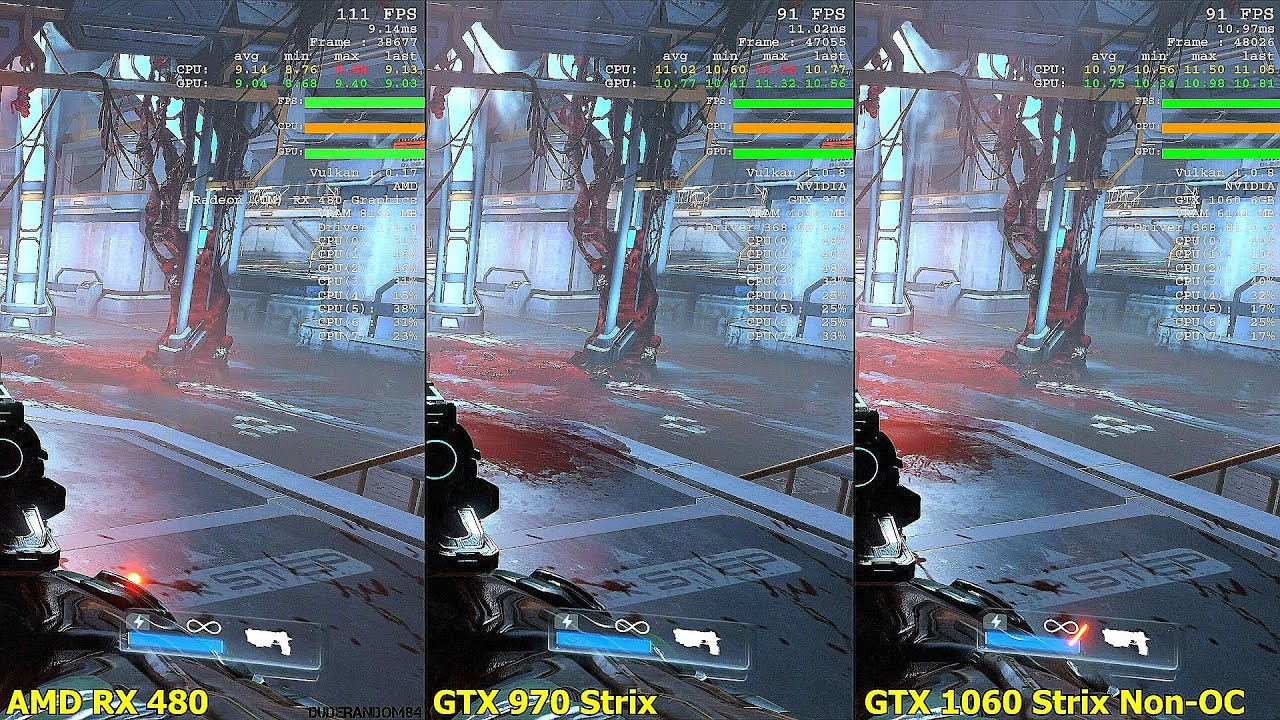 3d Unity Live Wallpaper Doom Vulkan Gtx 1060 Vs Gtx 970 Vs Amd Rx 480 Frame Rate