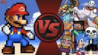 LOST Mario Animation + Mario vs The World! (Mario vs Sonic, Undertale, Goku, Playstation, Minecraft)