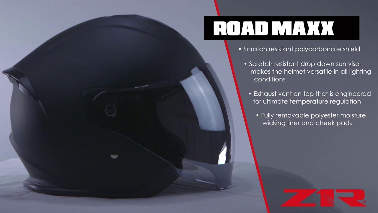 Z1R Road Maxx Mens Street Riding DOT Cruising Motorcycle Helmets