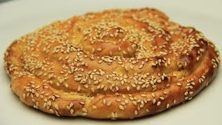 Tahini Sweet Bread Roll Recipe - Sesame Paste Tsoureki