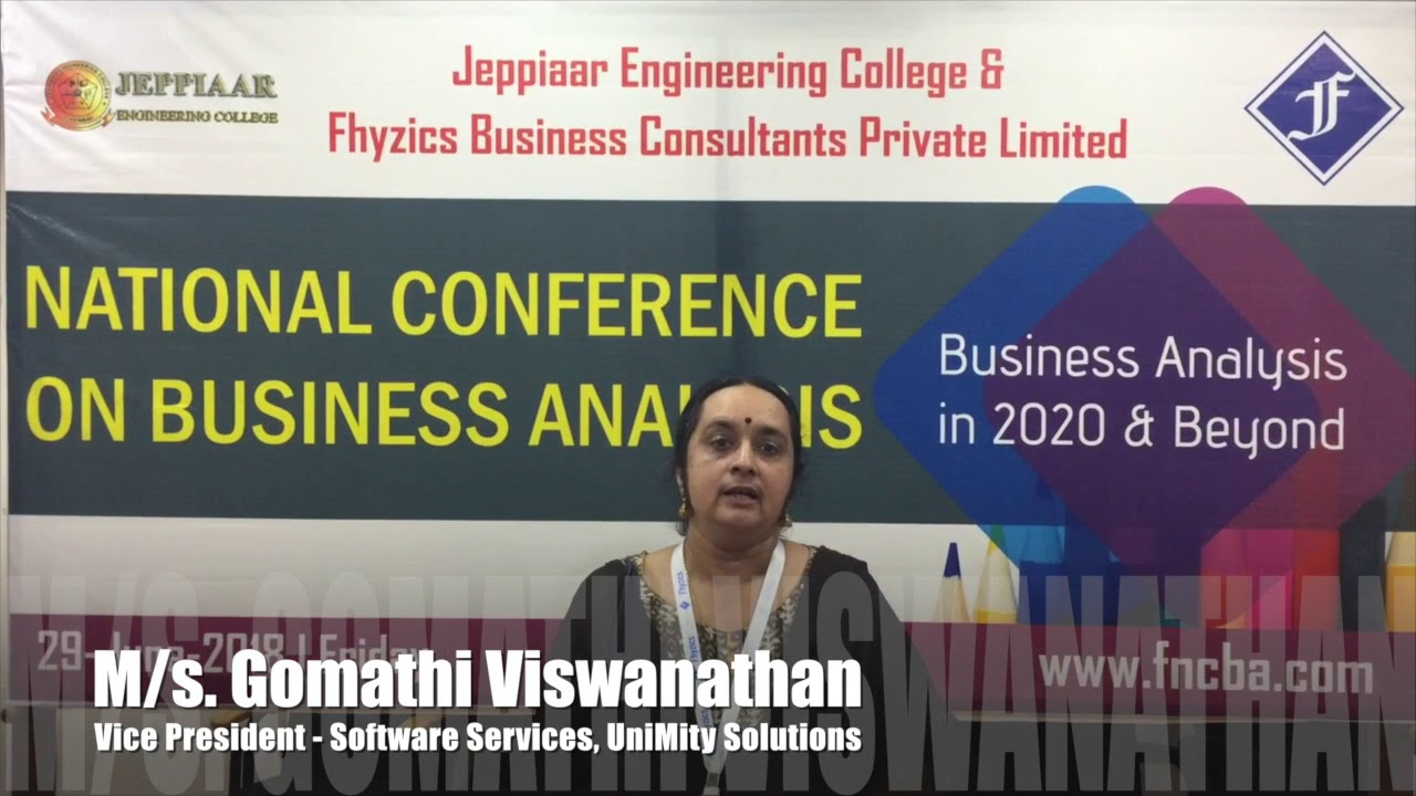 National Conference on Business Analysis 2019