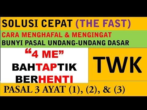 Cara Cepat Menghafal UUD Pasal 3 (Latihan Soal CPNS 2018) - 4 ME BAHTAPTIK BERHENTI