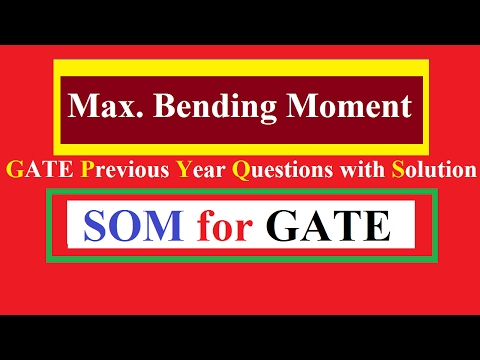 Maximum Bending Moment and Deflection GATE Previous Year Questions