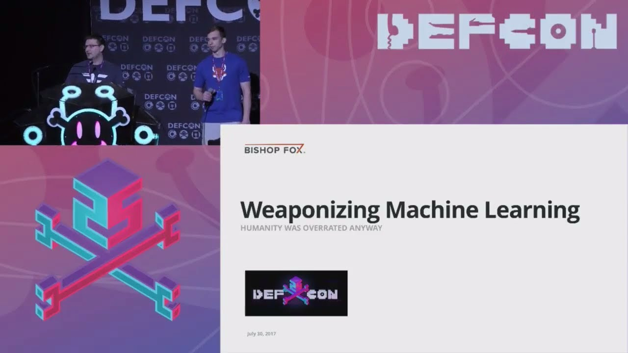DEF CON 25 (2017) - Weaponizing Machine Learning - Petro, Morris ...