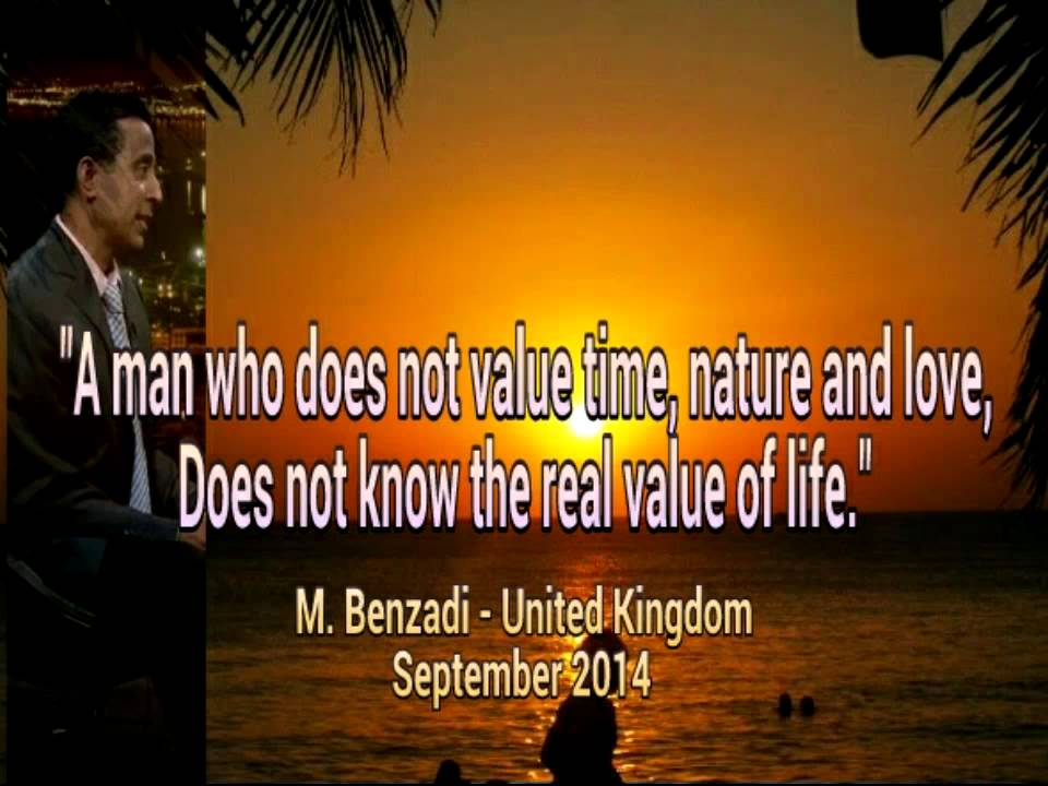 Mouloud Benzadi English Quotes: Time, Nature, Love