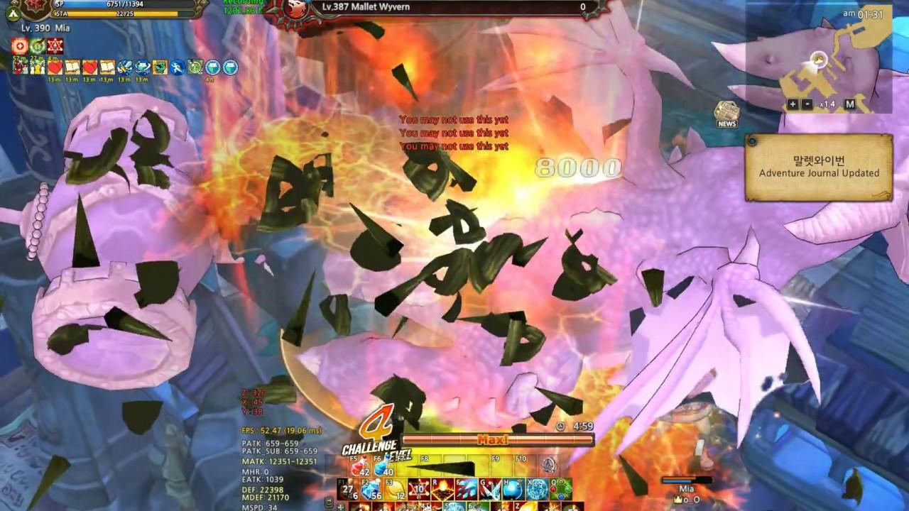 TOS : [Re:Build] Wizard, Solo CM5, Lv 387 Map