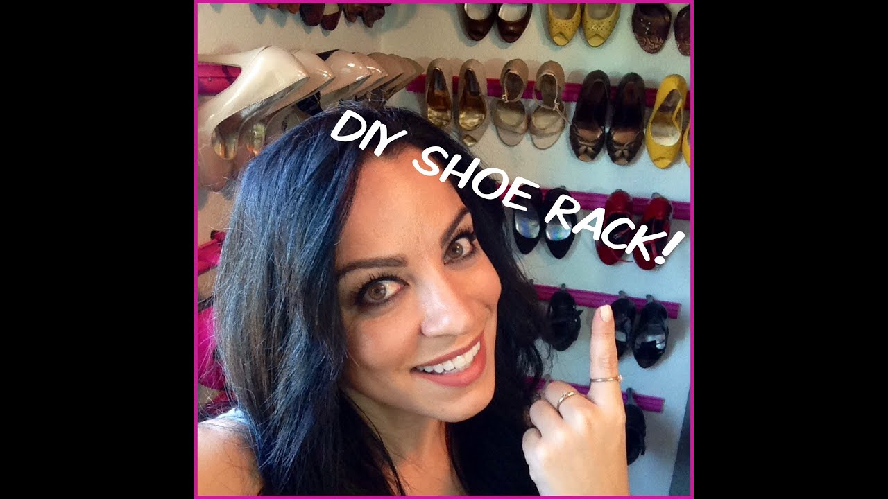 Diy shoe rack storage using crown molding youtube solutioingenieria Image collections