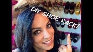 Diy- Shoe Rack & Storage Using Crown Molding!