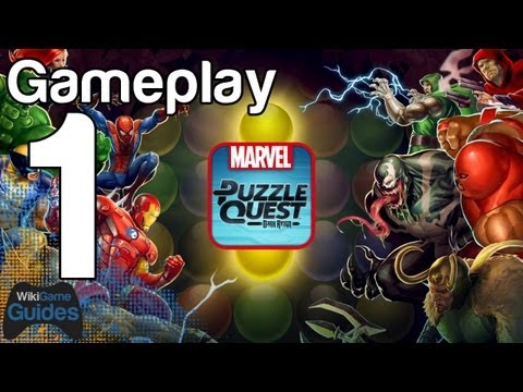 Marvel Puzzle Quest Gameplay Part 1 IPad IPhone IOS Android | WikiGameGuides