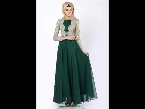be6d6f30240d0 فساتين محجبات رائعه 2015 - 2016 - Hijab Dresses - YouTube