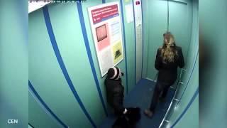 Питер. В лифте подвесило собаку.