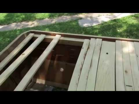 Free scrap lumber Top Bar Bee Hive - YouTube