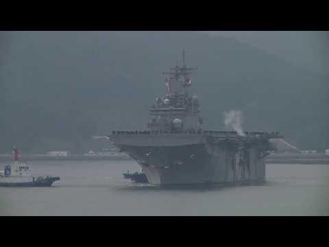 USS Wasp Arrives in Sasebo, Japan