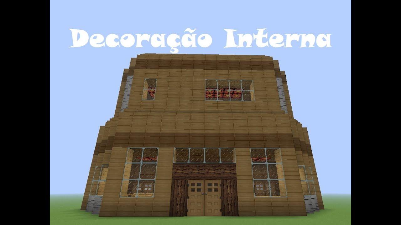 Minecraft Tutoriais: Como construir uma Casa de Madeira Decoração  #024BC9 1183x885