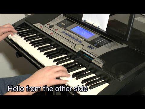 Adele - Hello (karaoke + lyrics ) keyboard, instrumental