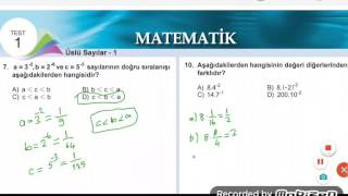 8.sinif Meb Yayini Matematİk Kazanim Testİ 1