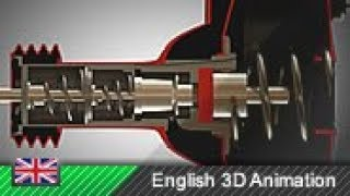 Vacuum brake booster  How it works! (Animation)