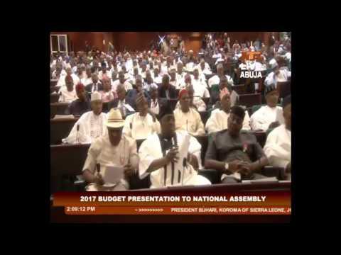 2017 Budget Presentation by President Muhammadu Buhari