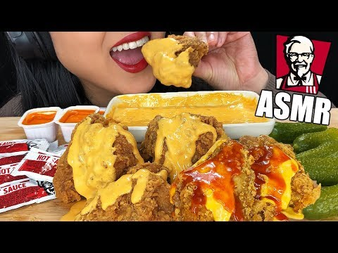 ASMR SPICY HOT CHEESY KFC FRIED CHICKEN WINGS (Crunchy Eating Sounds) | No Talking ASMR Phan