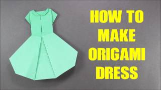 How to Make Origami Dress (Version 2) - Easy Origami Tutorial for Beginners - Paper Dress