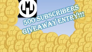 Roblox - 500 Subscribers Giveaway Entry!!!! (CLOSED)